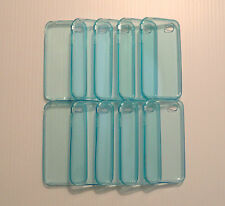 Lot of 10 TPU Soft Gel Skins Cases For Apple iPhone 4 LIGHT BLUE