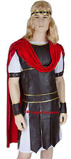 Mens Hercules Thor Caesar Roman Gladiator Warrior Toga Fancy Dress Costume - M