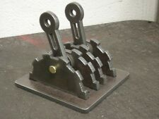 Steampunk light switch lever (double). Functional Industrial Age art. STEEL