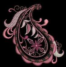Gorgeous Paisley Collection Machine EMbroidery Design CD 5x7 for Brother, Janome
