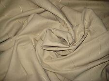 """LIGHT BEIGE EMBROIDERED FAUX SUEDE 100% POLYESTER  MICROFIBER FABRIC 58"""" W BTY"""