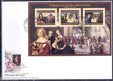GUINEA 2012 PAINTINGS BY THE ITALIAN MASTERS RAPHAEL  SHEET  FIRST DAY COVER