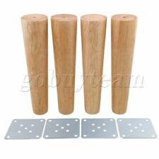 4 pcs 25cm Height Wood Tapered Furniture Feet Sofa Tea Table Legs