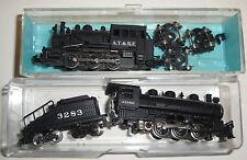 A.T. & S.F. 3283 BACHMANN TRAIN ENGINE LOT - N Scale - Locomotive Black Wheels