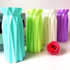 Origami Plastic Vase Imitation Flower Pot Basket Home Office Nordic Decoration