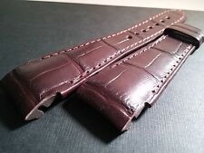 Leon Hatot band BROWN, crocodile, 20/16mm (20mm at watch, 16mm at the clasp)NOS