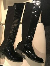 ❤️Cara/London❤️Over Knee Boots❤️Black Patent Real Leather❤️4❤️RRP.£149❤️❤️❤️