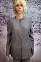 ELLEN TRACY Women's Business Blazer Size 14 Heather Gray NWT Wool Blend