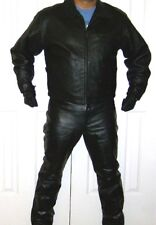 """Gap """"Everyone in Leather"""" Biker Jacket XL and Pants 36"""