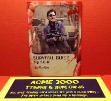 Topps WALKING DEAD SURVIVAL BOX - SURVIVAL GUIDE Card - SG-R - BE RUTHLESS