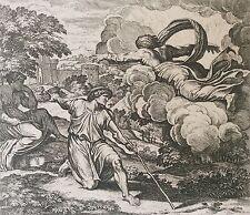 Nicolas CHAPRON ou CHAPERON 1612-1653 d'après RAPHAEL Dieu et Isaac XVIII