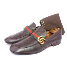 Mens Gucci Brown GG Web Donnie loafers 428609 Shoes UK 10 , US 10.5 , Eu 44