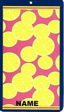 "30"" x 60"" Name Embroidered Beach / Pool Towel With Lemon Slices Design"