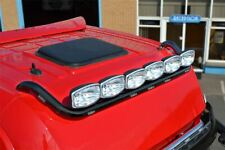 Roof Spot Light Bar + LEDs For DAF XF 95 SuperSpace Truck BLACK Stainless Steel