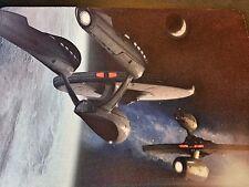 STAR TREK ENTERPRISE CHASE ! Spock Kirk Anti slip optical COMPUTER MOUSE PAD