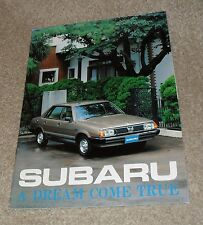 Subaru Brochure - Saloon - Station Wagon - Coupe - MV - 1980