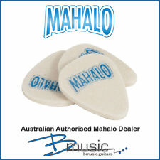 3 x Genuine Mahalo Felt Ukulele Plectrums - 3.2mm specialised uke picks
