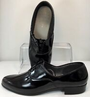 Pierre Cardin Dress Oxford Men Sz 12M Black Patent Formal Tuxedo Lace Up Shoe US