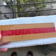 SUPREME BOX LOGO VINYL BUMPER STICKER GUCCI BROWN JASON DILL HAROLD HUNTER HIRST