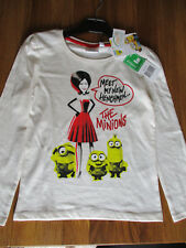 Childrens-Minions-T-Shirt-Long Sleeved - new with tags - 100% cotton - age 8