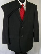 Joseph & Feiss Gold Mens Suit Charcoal Gray Wool Size 42R