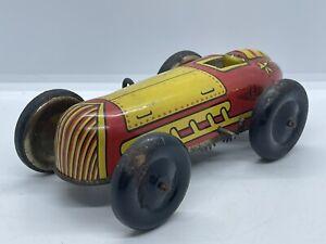 Vintage RARE Lupor Windup Tin Litho Race Car Racer Speedster Similar To Marx Vtg