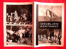 LOST CONTINENT 1955 ITALIAN CONTINENTE PERDUTO ENRICO GRAS EXYU MOVIE PROGRAM
