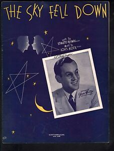 Sky Fell Down 1940 Glenn Miller Sheet Music