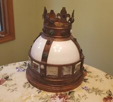 Antique Carnival Amusement Park CAROUSEL TOPPER? Brass Crown with Glass Jewels