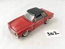 STUNNING VINTAGE TEKNO DENMARK # 929 MERCEDES BENZ 230SL DIECAST TOY CAR RED VNM