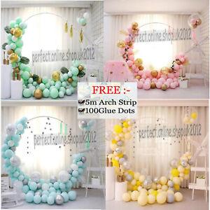 Balloon Garland Arch Kit Pastel Rainbow Kids 1st Birthday Baby Shower Wedding