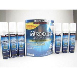 6 MONTHS KIRKLAND FOAM MINOXIDIL 5%  HAIR LOSS REGROWTH FOR MEN GENERIC