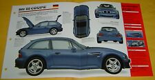 1998 BMW Z3 M Coupe 3152cc EFI 6 Cylinder 240 hp IMP Info/Specs/photo 15x9