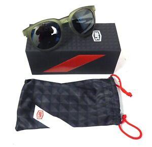 100% Campo Matte Translucent Olive Frame, Black Mirror Lens
