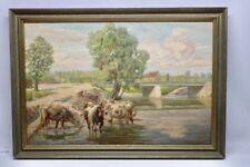 Abstrakte künstlerische Malerei mit Kuh-Tiere von 1900-1949