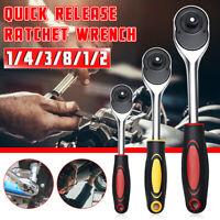 24 Zähne Ratschenschlüssel mit Griff Schraubenschlüssel Tool 1/2'' 3/8'' 1/4''