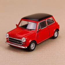 1990 Mini Cooper 1300 Die-Cast Model Car 10.5cm Detailed Interior Pull-Back Red