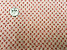 Best Vintage Feedsack Quilt Fabric 40s Tiny Diagonal Red Checks Wwii Flour Sack