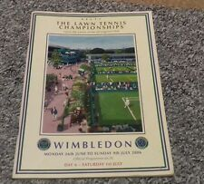 Wimbledon tennis championships programme 2006 day 6 Saturday 1st July