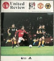 MANCHESTER UNITED V WOLVERHAMPTON WANDERERS 2019/20