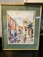 ORIGINAL SIGNED WATERCOLOUR PAINTING DOUBLE BEVELLED MOUNT FRAMED BH DUNN ARTIST