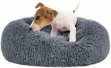�Calming Dog Bed for Small Dogs, Faux Fur Donut Self Warming Indoor Pet Bed