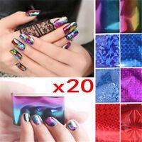 Nail Art Sticker 20Pcs Foils Finger DIY Decal Water Transfer Stickers Tips Decor