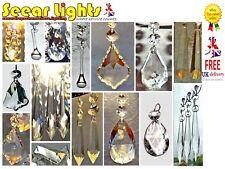 5 CHANDELIER DROPS DROPLETS PRISMS ANTIQUE LOOK CRYSTALS CUT GLASS LIGHT PARTS
