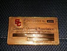 USC General Alumni Association Life Member Metal Card H Dale Hilton #8592 RARE