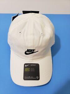 New Little Toddler  Nike Cap Adjustable Hat White/ Black  Unisex