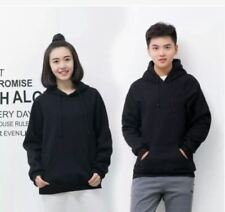 JACKET PLAIN WITH HOODIE - COUPLE SET ( BLACK)