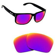 b2ec100331e7 Hawkry Polarized Replacement Lenses for-Oakley Holbrook Sunglass Midnight  Sun