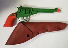 Disney Parks Frontierland Diecast Metal Green & Orange Toy Action Revolver NEW