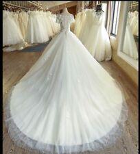 Short Sleeve Wedding Dresses Bridal Ball Gowns Appliques Petites Plus Size 2-26w
